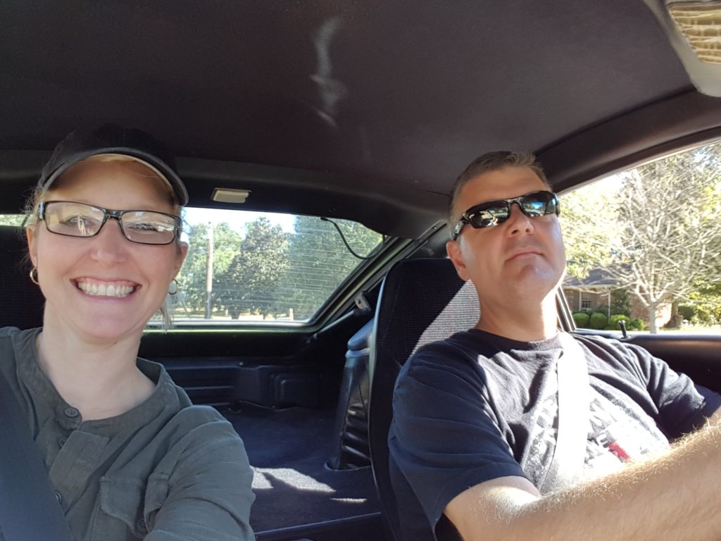 Matt and Amy Wilson taking a drive in their 1976 280Z
