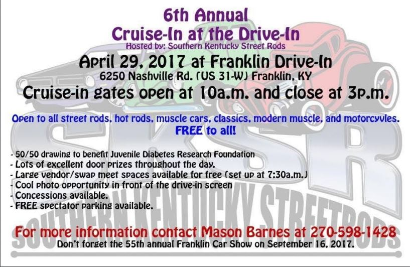 Cruise In at the Drive In @ Franklin Drive-In | Franklin | Kentucky | United States