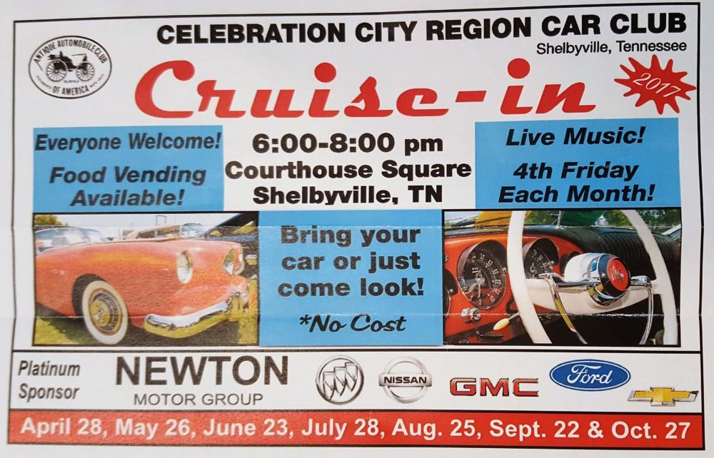 Celebration City Car Club Cruise-In @ Courthouse Square | Shelbyville | Tennessee | United States