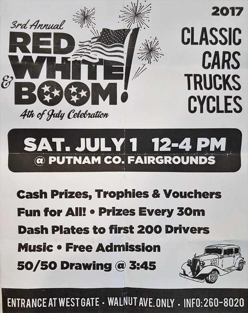 Red White and BOOM Car Show @ Putnam County Fairgrounds | Cookeville | Tennessee | United States