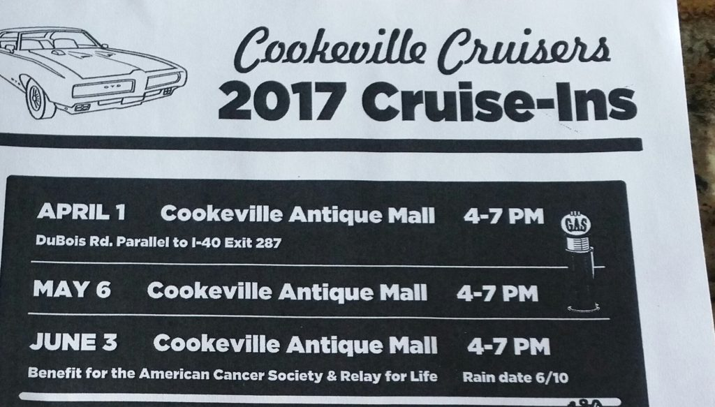 Cookeville Cruisers Cruise-In @ Cookeville Antique Mall   Cookeville   Tennessee   United States