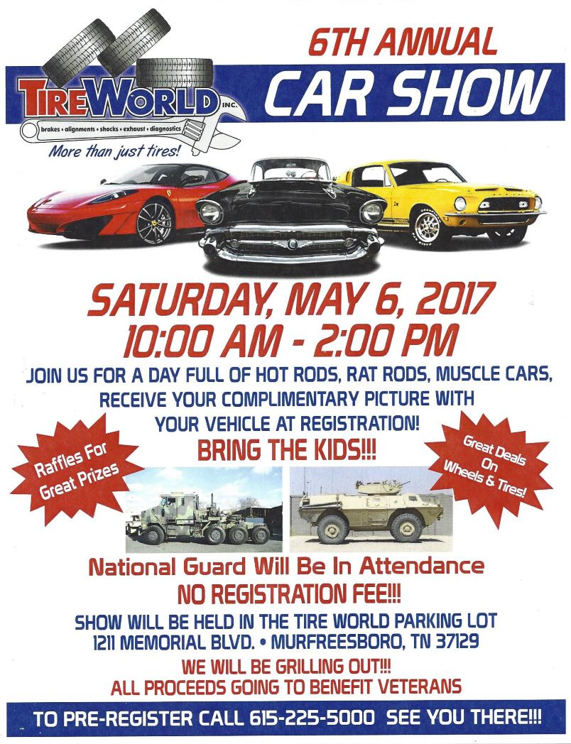 Tire World Car Show - Honk, Rattle & Roll Touring Region