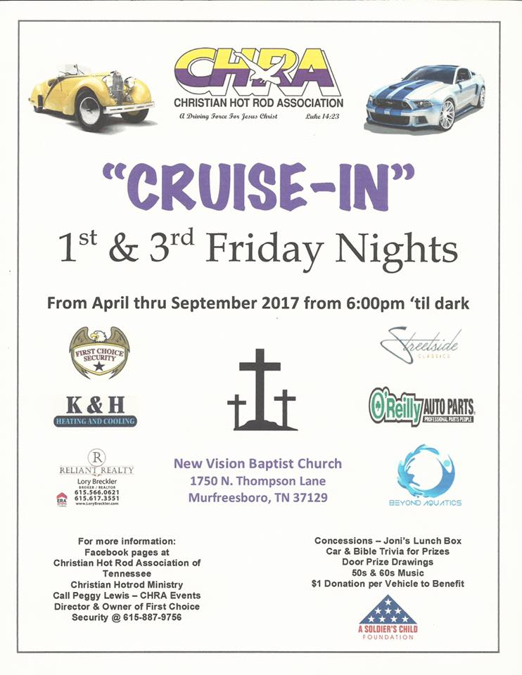 CHRA Cruise-In @ New Vision Baptist Church | Murfreesboro | Tennessee | United States