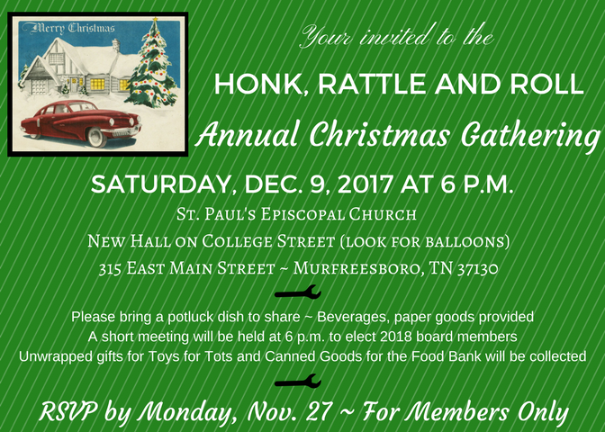 HRR 2017 Christmas Party @ St. Paul's Episcopal Church | Murfreesboro | Tennessee | United States