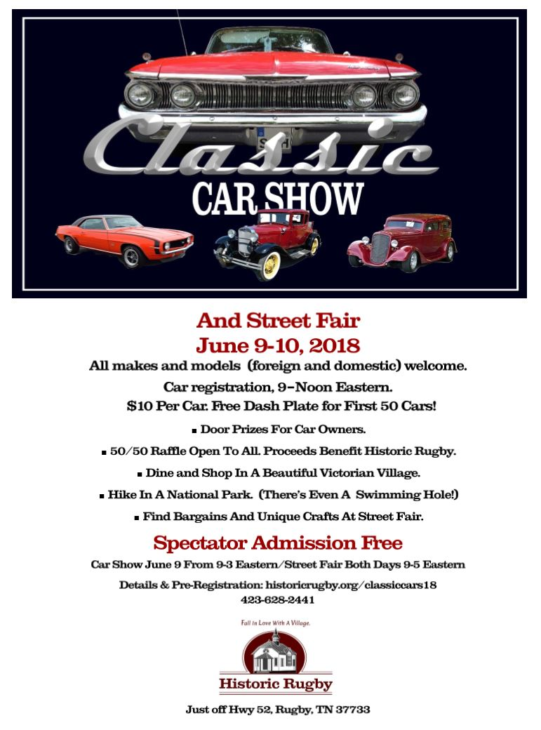 Rugby Classic Car Show @ Rugby, TN | Rugby | Tennessee | United States
