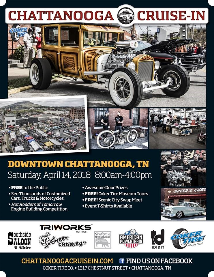 Chattanooga CruiseIn Honk Rattle Roll Touring Region - Coker tire car show 2018